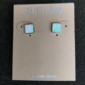 Jewelry - NWT Peyote Bird Square Opal Studs
